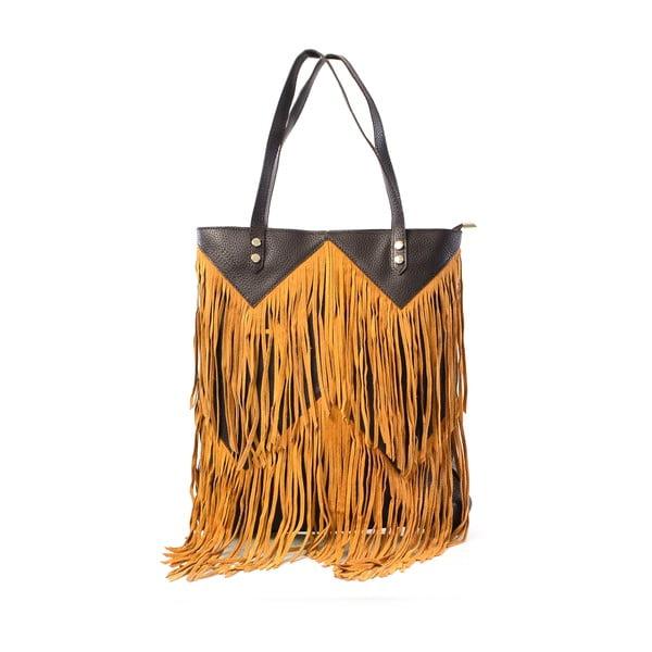 Kožená kabelka Michelle, velbloudí
