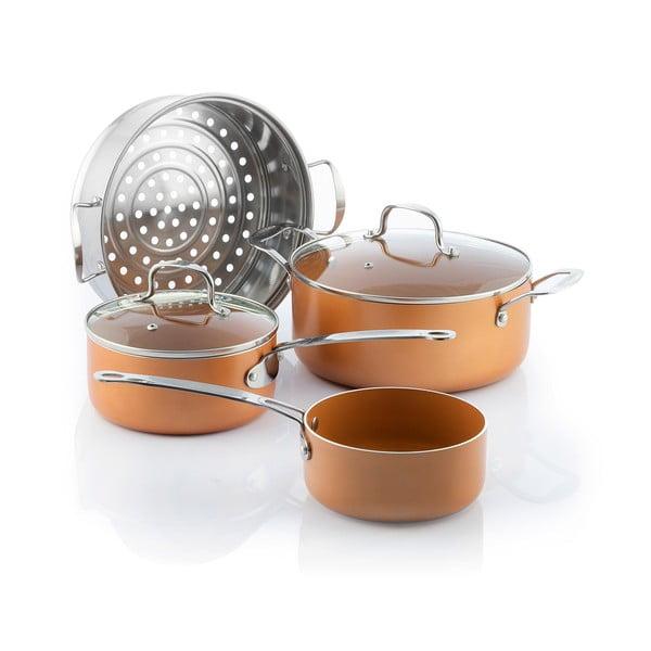 Set de oale de gătit la aburi InnovaGoods Copper-Effect
