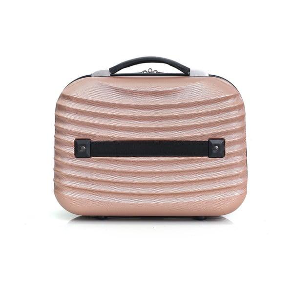Světle růžové malé příruční zavazadlo Hero Patapios,