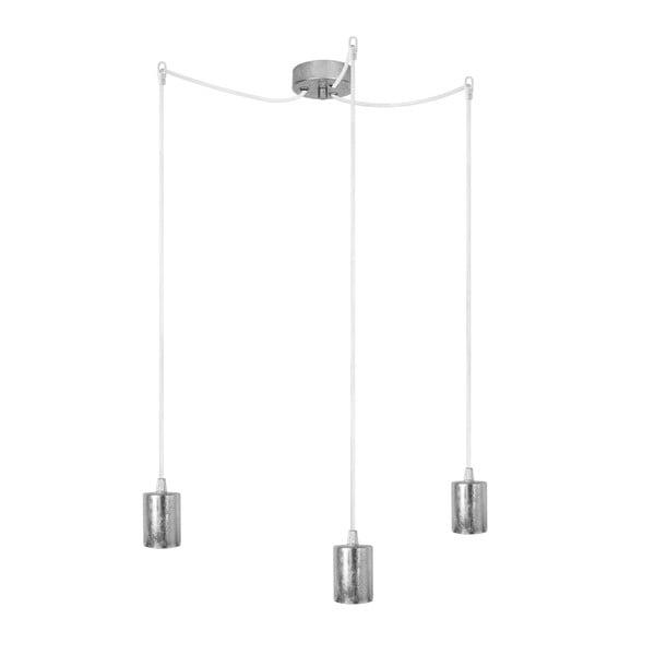 Tři závěsné kabely Bulb Attack Cero, stříbrná/bílá/stříbrná