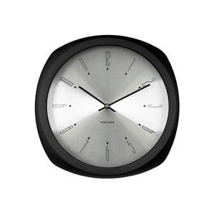 Černé hodiny Present Time Aesthetic Square
