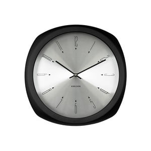 Černé hodiny Karlsson Aesthetic Square