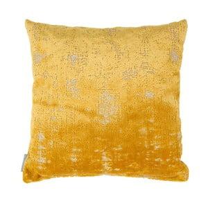 Pernă cu umplutură Zuiver Sarona Vintage, 45 x 45 cm, galben