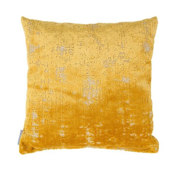 Žlutý polštář s výplní Zuiver Sarona Vintage, 45x45cm