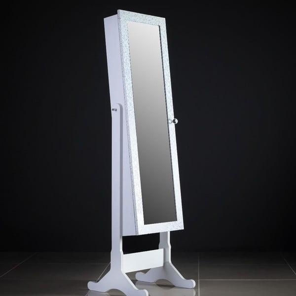 Uzamykatelné stojací zrcadlo se šperkovnicí Daphne, vzorované