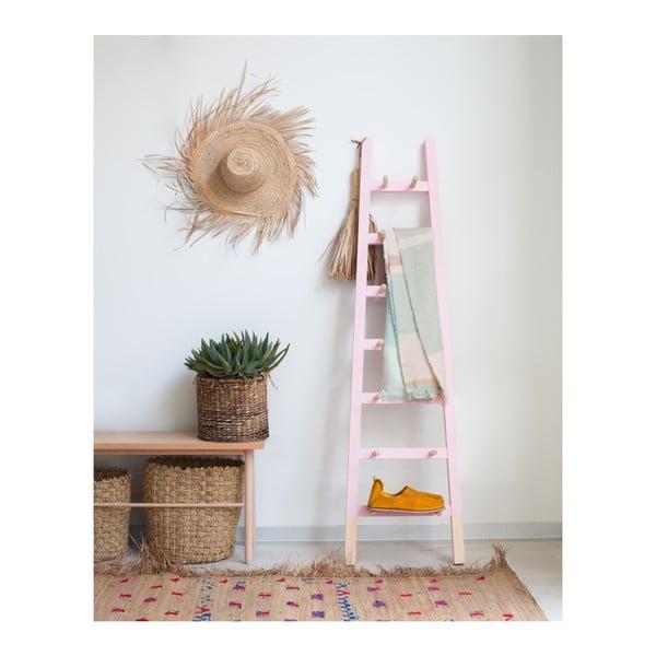Světle růžový odkládací dekorativní žebřík z borovicového dřeva Surdic Rosa