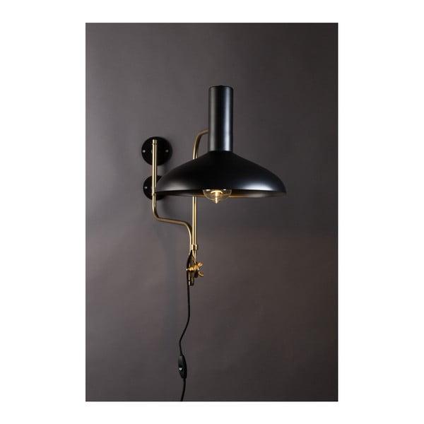 Černé nástěnné svítidlo Dutchbone Devi