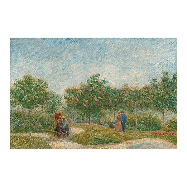 Obraz Vincenta van Gogha - Garden with Courting Couples- Square Saint-Pierre, 90x60 cm