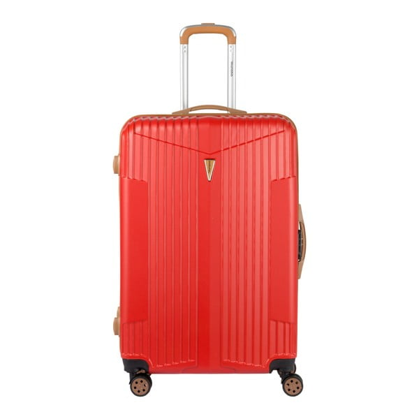 Sada 3 červených kufrů na kolečkách Murano Europa