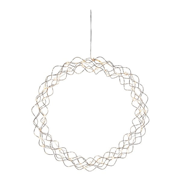 Závěsná LED dekorace Best Season Curly Dewdrops, Ø45cm