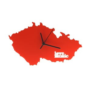 Hodiny Česko, červené