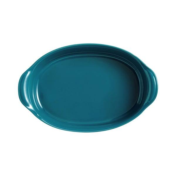 Tavă ovală pentru copt Emile Henry, 2,3 l, albastru turcoaz