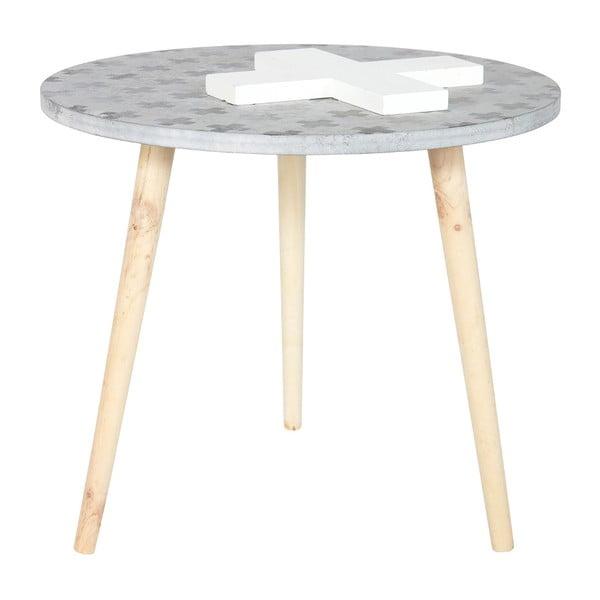 Odkládací stolek Denn, šedý