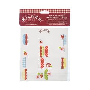 24 štítků na zavařovací sklenice Kilner