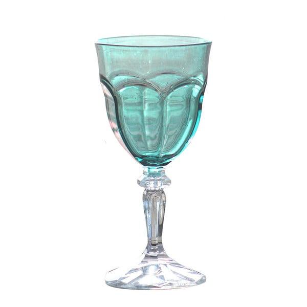 Sada 6 modrých plastových sklenic na víno Sunvibes Happy, 250ml