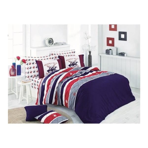 Lenjerie de pat cu cearșaf Beverly Hills Polo Club Kent, 200 x 220 cm
