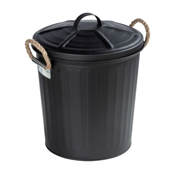 Černý koš Wenko Gara Matt, objem 6l