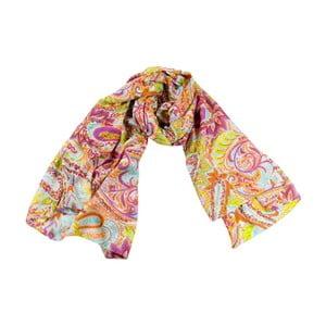 Šátek s příměsí hedvábí Shirin Sehan - Nadine Pomegranate