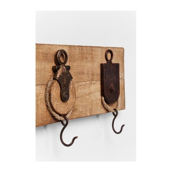 Nástěnný věšák z jasanového dřeva Kare Design Rack