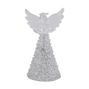 Skleněný dekorativní andělíček ve stříbrné barvě Ego Dekor Fiona, výška9cm