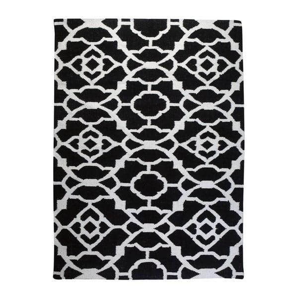 Vlněný koberec Geometry Vintage Black & White, 160x230 cm