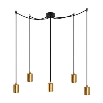 Lustră cu 5 cabluri Bulb Attack Cero, negru – auriu de la Bulb Attack