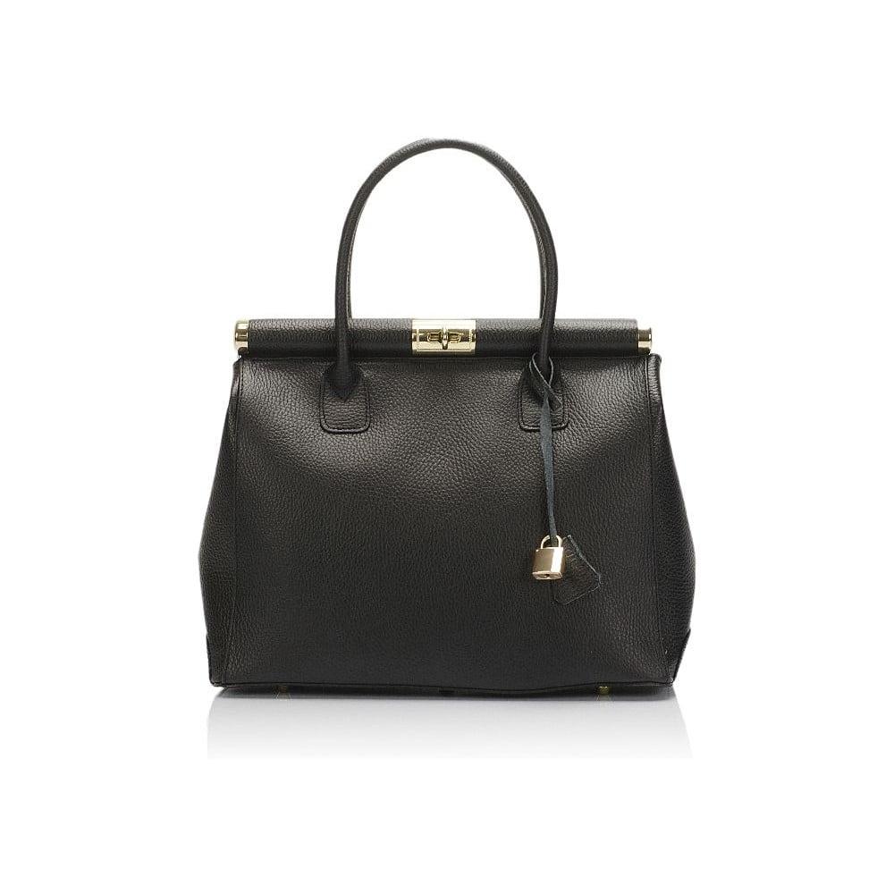 Černá kožená kabelka Giulia Massari Novara