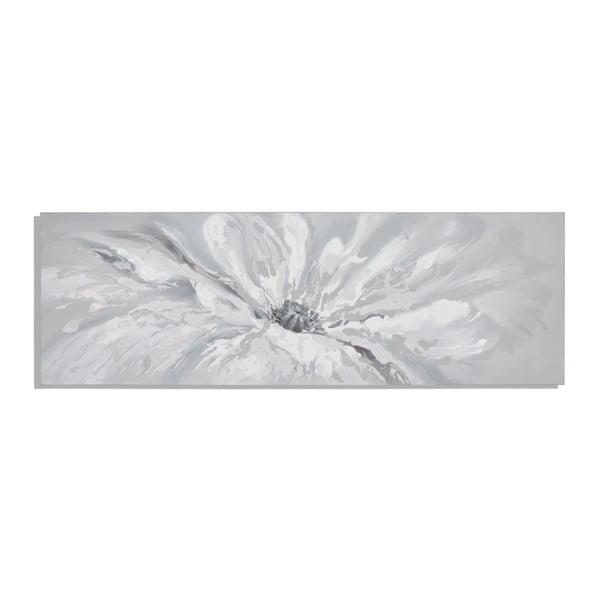 Ručne maľovaný obraz s motívom kvetu Mauro Ferretti White Blossom, 150×50 cm