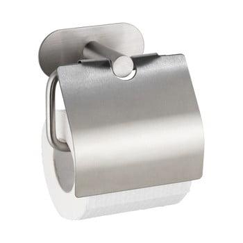 Suport oțel inoxidabil pentru hârtie igienică fără sistem de prindere cu șurub Wenko Turbo-Loc® Orea Cover