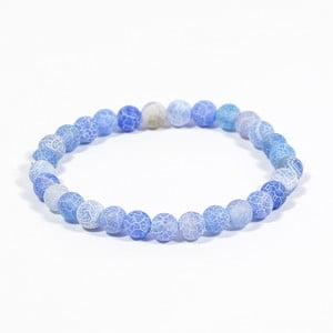 Modrý náramek z přírodních minerálů s achátem Yogaly Tranquility