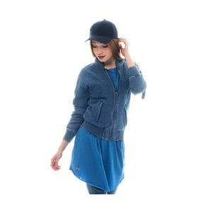 Bavlněná bunda barvená indigem Lull Loungewear Zipper, vel.S