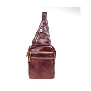 Tmavě hnědý kožený batoh přes rameno Italia in Pogress Martino