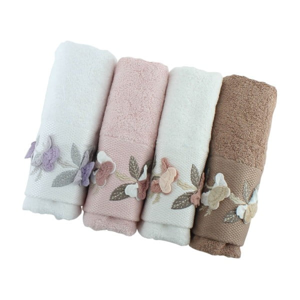 Sada 4 ručníků Sarmasik, 50x90cm