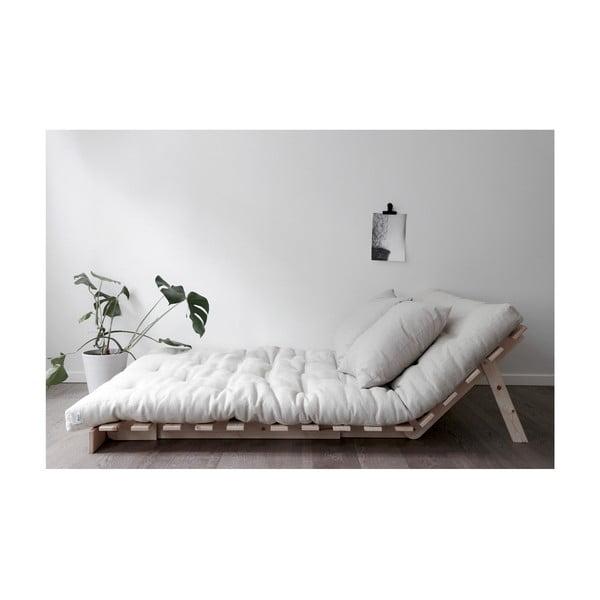 Rozkládací pohovka sesvětle béžovým potahem Karup Design Roots Raw/Natural
