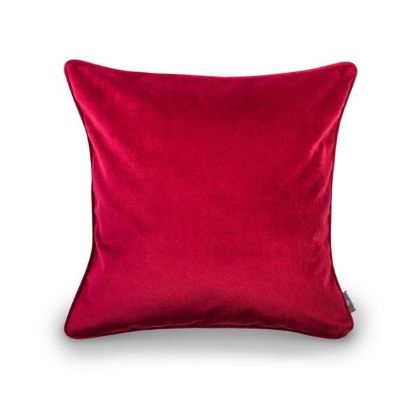 Červená obliečka na vankúš WeLoveBeds Mystic Burgundy, 50 × 50 cm