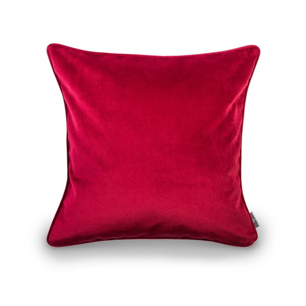 Červený povlak na polštář WeLoveBeds Mystic Burgundy, 50 x 50 cm