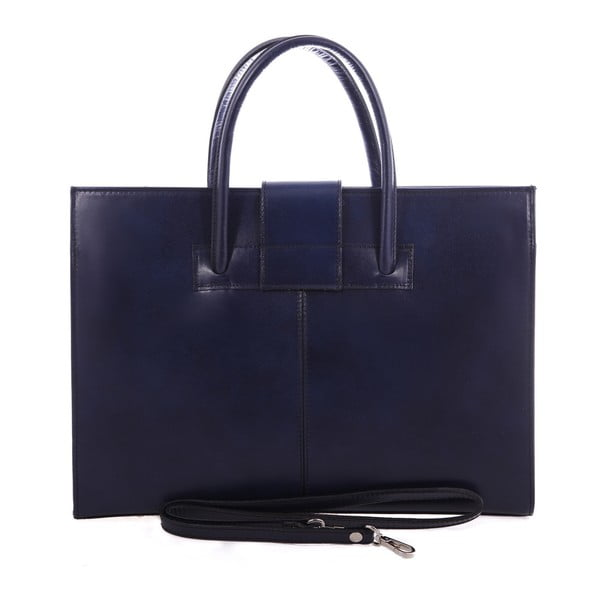 Modrá kožená taška Chicca Borse Paola