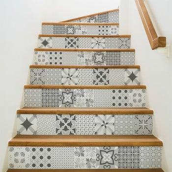 Set 2 autocolante pentru scări Ambiance Romantic, 15 x 105 cm imagine