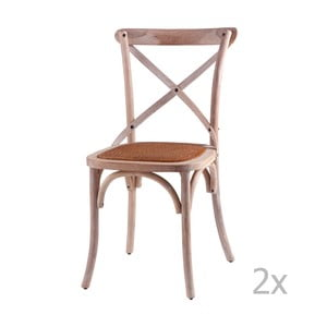 Sada 2 dřevěných jídelních židlí sømcasa Ariana