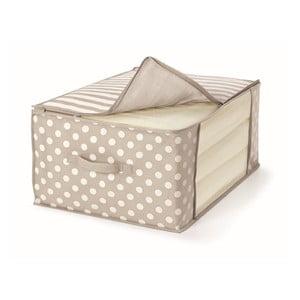 Béžový uložný box na přikrývky Cosatto Trend,45x60cm