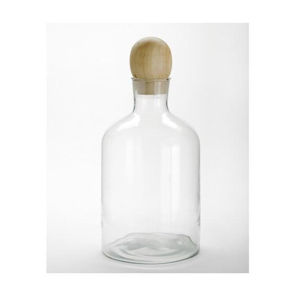 Skleněná lahev s dřevěným špuntem ComingB Stories