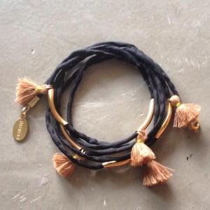 Dlouhý náhrdelník/náramek Kasbah Black