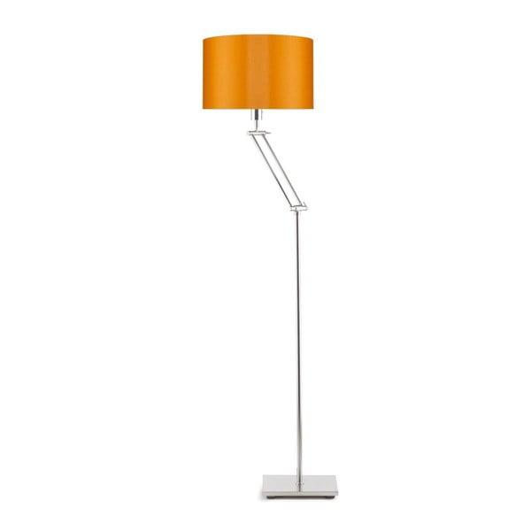 Šedá volně stojící lampa s oranžovým stínidlem Citylights Dublin