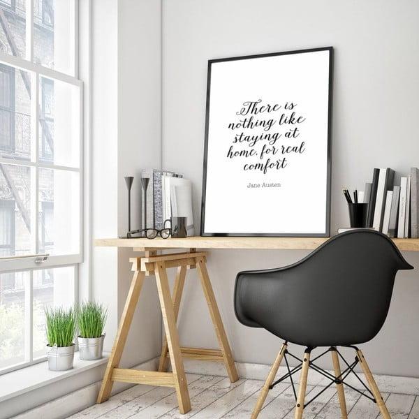 Plakát v dřevěném rámu Real comfort, 38x28 cm