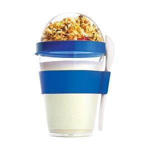 Modrý svačinový kelímek Asobu Yo2GO, 360 ml