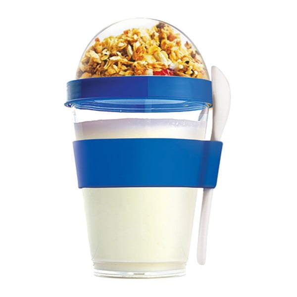 Pahar pentru gustari Asobu Yo2GO, 360 ml, albastru