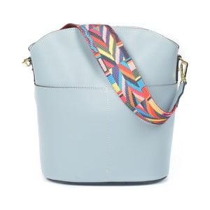 Světle modrá kožená kabelka Luisa Vannini Clorinda
