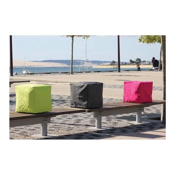 Šedý venkovní voděodolný puf Sunvibes Cube