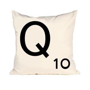 Písmenkový polštář Letra Q, 50x50 cm