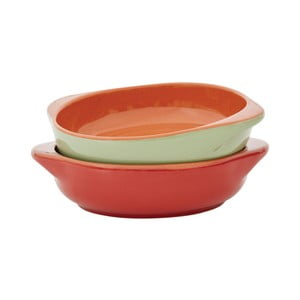 Set 2 forme de copt Mini Al Forno, verde/roșu
